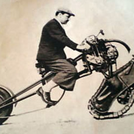1937 Front Drive tracked military motorcycle prototype