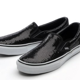 VANS - VANS SLIP ON V98SPANGLE BLACK VANS