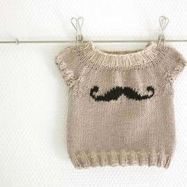 paperama - Mini Moustache Baby sweater PDF Pattern