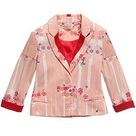 SUPERTRASH GIRLS - Girls Pink Floral Blazer