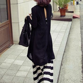 fashion - Image of [grzxy6601155]Casual Candy Solid Color Pleated Back Cutout Cardigan
