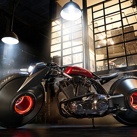 Smoked Garage - Harley-Davidson Softail
