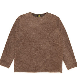 NEEDLES - Boat Neck L/S Tee-W/Pe/An/N Shaggy-Brown