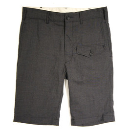 Engineered Garments - Ghurka Short,Chacoal Tropical Wool