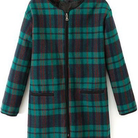 Check Print Green Outerwear pictures