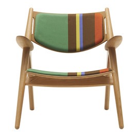 Paul Smith - CH28 Lounge Chair upholstered in Big Stripe