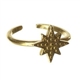 Chibi jewels - Brass Starry Night Ring