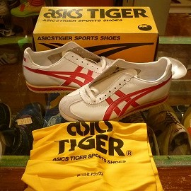 """asics - 「<deadstock>80's asics TIGER LIMBER UP SPECIAL white/red""""made in JAPAN"""" size:24.5cm 9800yen」販売中"""