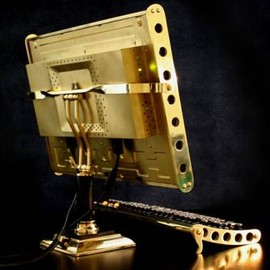 Steampunk LCD 22-inch LCD monitor back view