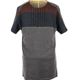 SIVA - FRONT KNITTING SHORT-SLEEVE TEE
