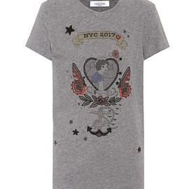 VALENTINO - Printed cotton T-shirt