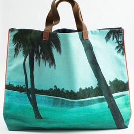 Dezso by SARA BELTRAN - Maldive Aqua Single Palm Tree Tote 2013