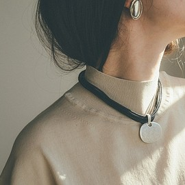 clane - ROUND PLATE NECKLACE
