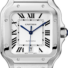 Cartier - Santos de Cartier watchLarge model, automatic, steel, two interchangeable straps