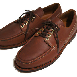 RUSSELL MOCCASIN - Oxford,Brown Oiled Tan Leather Sole