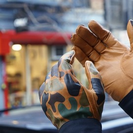 航空自衛隊 - PAC-3 Leather Camo Gloves