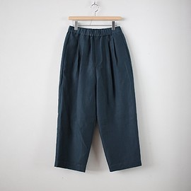 R&D.M.Co- - 高密度LINEN WIDE TAPERED GOM PANTS #green