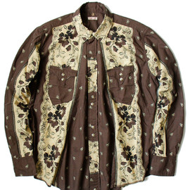 KAPITAL - Cotton Sheeting Rockwell PT Sukiyaki Western Shirt
