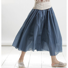 skirt - meet by chance/ Linen elastic waist Long skirt
