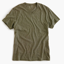 J.CREW - Broken-in V-neck T-shirt/Regular/Heather Olive