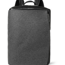 Maison Martin Margiela - Maison Martin Margiela Leather and Felt Backpack