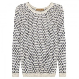 Maison Olga - Open knit linen and cotton blend jumper