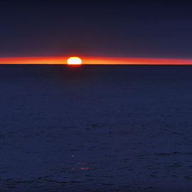 Rich Cruse - Sun Peers Out Before Sunset in Oceanside - July 1, 2012