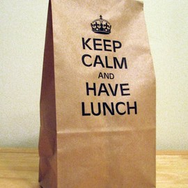 sammo on Etsy - KEEP CALM AND HAVE LUNCH Bags
