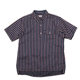 ENGINEERED GARMENTS - Popover Shirt-Regimental St.-Navy/Red