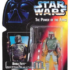 kenner - STAR WARS 1995 Power of the Force - Boba Fett Sawed Off Blaster Rifle
