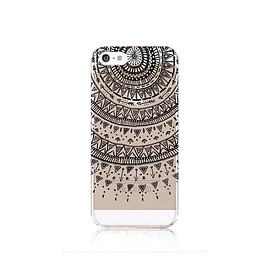 casesbycsera - iPhone 6 Case Clear Clear Manadala iPhone 6 Case iPhone 5 Case Clear Black Mandala Henna