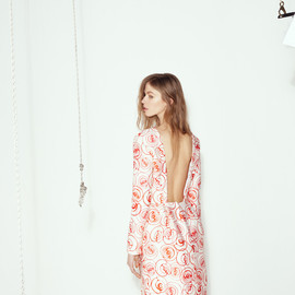 Caterina Gatta - Caterina Gatta Roses-print Crepe Dress