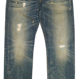 RRL - RRL NEVADA WASH HAND REPAIRED JEAN  (LOW STRAIGHT)