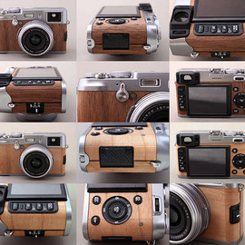 Fujifilm  - Walnut and Cherry Wood Coverings for the Fujifilm X100