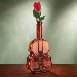 Glass Violin Vase