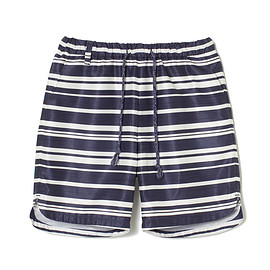 White Mountaineering - RANDOM BORDER SHANTUNG SHORT PANTS