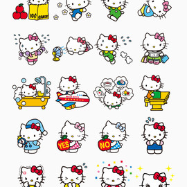 LINE - Hello Kitty Stickers