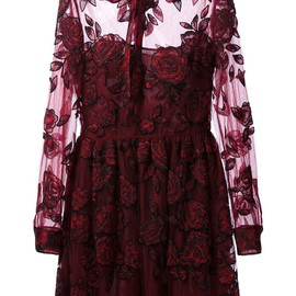 VALENTINO - embellished floral dress