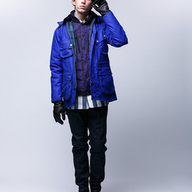 White Mountaineering - WAX COTTON HOODED JACKET  2014AW