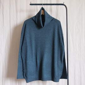 crepuscule - Turtle Neck Knit #bluegreen