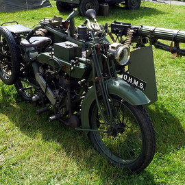 Matchless - and sidecar, fitted with a Vee-Twin JAP Engine.ww1
