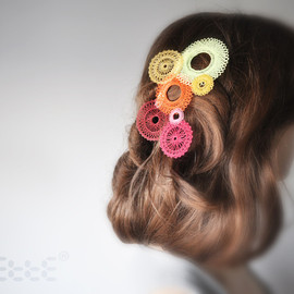 spiro ellipsoidal hair clips 3pc