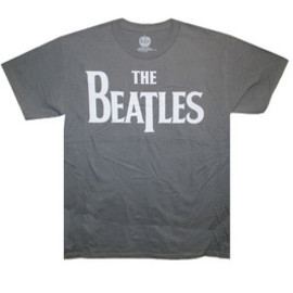 BEATLES ,THE / LOGO ON GRAY   T-Shirts Tシャツ ビートルズ