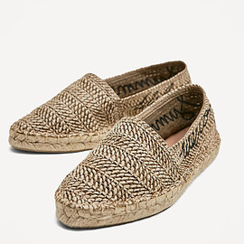 ZARA - Raffia Espadrilles with slogan