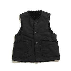 ENGINEERED GARMENTS - Over Vest-Double Cloth-Black