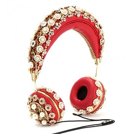 DOLCE&GABBANA - FW2015 Embellished leather headphones