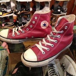 """converse - 「<used>1990s converse ALLSTAR LEATHER HI red""""made in USA"""" size:US4(23cm) 3800yen」販売中"""