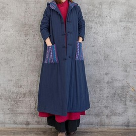 winter long coat - Winter coat for Women, hooded padded robes, Women winter long coat