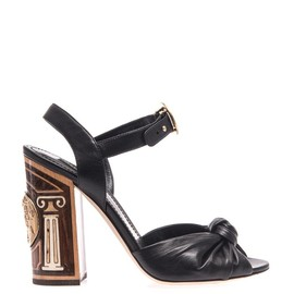 DOLCE&GABBANA - Inlaid wood leather sandals