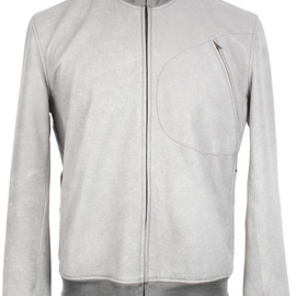 Quai de Valmy - Grey Elk Leather Jacket